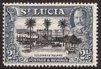 St. Lucia SG 117. 2.5d Black And Blue. UM. Check Condition Report - St.Lucia (...-1978)