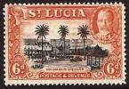 St. Lucia SG 120. 6d Black And Orange. UM. Check Condition Report - St.Lucia (...-1978)