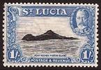 St. Lucia SG 121. 1s Black And Light Blue. UM. Check Condition Report - St.Lucia (...-1978)