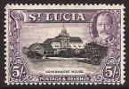 St. Lucia SG 123. 5s Black And Violet. UM. Check Condition Report - St.Lucia (...-1978)
