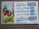Buvard Publicitaire Sucreries:réglisse ZAN:bienfaiZan,gommes Zan Délicieux Zanbi-iillustration écaille Rose Papillon - Cake & Candy
