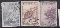N °1670/1672 FAUNE ROUMAINE OBL - 1948-.... Repubbliche