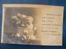 CP ...ANNONCE DE NAISSANCE DE BEBE JEAN..PANIERE DE FLEURS....PRECURSEURS 1905 - Bébés