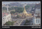 MYANMAR - AK 107139 Yangon - Sule Pagoda And Yangon River Scene - Myanmar (Burma)