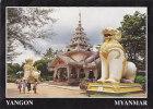 MYANMAR - AK 107141 Yangon - Two Enormous Chinthe Guard The Gate-way To The Kaba-Aye Pagoda - Myanmar (Burma)