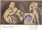 Carte-Maximum SAINT-MARIN  N°Yvert  748 (RAPHAEL - La Charité) Obl Sp 1969 - Religieux