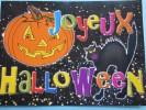 Joyeux Halloween Citrouilles Illuminée »Fêtes Et  Voeux.carte  Pas Courante - Halloween