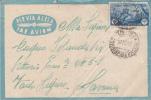 STORIA POSTALE-SU BUSTA PER VIA AEREA-SCRITTO INTERNO 14,50X9,50 LIBIA TIMBRO-TRIPOLI 1942 - Posta