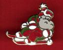 21488-pin's Hippopotame A Ski.disney.bd. - Fumetti