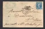 FRANCE 1864 N° 22 Obl. S/Lettre Entiére GC 2145 A C à D Lyon Les Terreaux - 1862 Napoleon III
