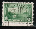 Canada, 1938, Used # 244, KG V1: Pictorial Issue: Vancouver Harbour  Vf  Used - 1937-1952 Règne De George VI