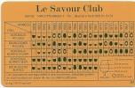 Carte Des Millésimes Du Savour Club, 1961-1994 - Alcools