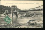Rhône Givors Pont De Chasse Et Remorqueur Descendant Le Rhône 1918 - Grigny