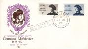 Ireland Scott #246-#247 FDC Countess Markievicz Birth Centenary - FDC