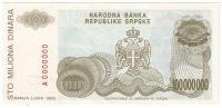 Bosnia And Herzegovina 100.000.000 Dinara 1993. UNC P-154s SPECIMEN ZERO NUMBERED - Bosnia And Herzegovina