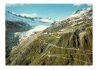 "SUISSE : ""Col De La Furka Et Glacier Du Rhône - Furkapass Mit Rhonegletscher - Furka Pass And Rhône Glacier "" - VS Valais"