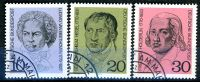 BRD - Michel 616 / 618 - OO Gestempelt (D) - Beethoven Hegel Hölderlin - Wert: 0,80 Mi€ - Gebruikt