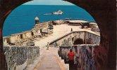 CPA-1955-PUERTO-RICO-SAN JUAN-FORTIN-SANTA- BARBARA BATTERY-EL MORO-TBE-RARE - Puerto Rico