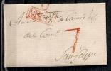 PREFILATELIA, ENVUELTA, AÑO 1809, ORIHUELA / MURCIA, MARCA Nº3 EN COLOR ROJO - España