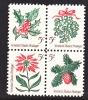 U.S. 1254-7  Christmas Flowers    ** - United States