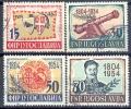 YU 1954-751-4 150 YEARS SERBIEN REVOLUTION, YUGOSLAVIA, 4v, Used - Gebraucht