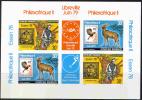0785 Fauna Stamp On Stamp 1978 Ruanda Deluxe Proof Sheet Deluxe MNH Imperf Imp ** - Vögel