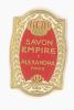 ETIQUETTE SAVON EMPIRE - ALEXANDRA - PARIS - Etiquettes