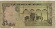 JORDANIE  -  JORDAN  -  1  Dinar  -  No Date  - P.18f - Jordanie