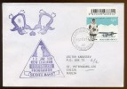 ANTARCTIC Station Base SCOTT Pole Mail Used Cover New Zealand Plane Penguin ROSS - Unclassified