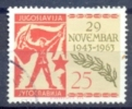 YU 1963-1063 20A°AVNOJ, YUGOSLAVIA, 1v, Used - Militaria