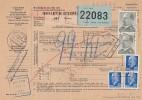 DDR  Paketkarte Mif Minr. 2x 1087,2x 937 Dresden 22.7.71 Gel. Nach Belgien - DDR