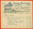 Facture Illustrée 1908 - 78 VERSAILLES Yvelines Ed. IMBERT Dorure Miroiterie (anc. Fisanne Blot) 52 Rue De La Paroisse - 1900 – 1949