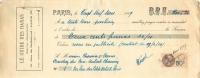 LETTRE DE CHANGE LE GUIDE DES HARAS 19/02/1929  RUE DE BELLEFOND A PARIS AVEC TIMBRE FISCAL - Bills Of Exchange