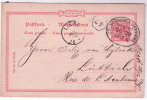 D REich Ep 10pf Rouge Oval COLN(RHEIN)-VERVIERS/1891 Pour Liège - Postkaarten [1871-09]