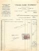 FACTURE FRANCO RADIO TELEPHONE 17 RUE LITTRE A PARIS 18/06/1936  AVEC TIMBRE FISCAL - Francia