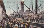 Washington Seattle Wharf Scene S S Victoria Leaving For Nome - Seattle
