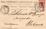 1910 CARTOLINA INTESTATA CON ANNULLO MERLARA PADOVA - Marcophilia