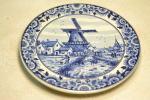 Petite Assiette Décorative DELFT (Hollande) Moulin / Village / Pays-Bas. N° 342 - Delft (NLD)