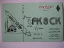 CARTE QSL CARD 1980 RADIO AMATEUR - NOUVELLE CALEDONIE - NOUMEA - FK8CK - JULIEN SELLIER - Radio Amateur
