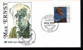 "1991 German FDC ""Max Ernst"" With Berlin Cancel - [7] Federal Republic"
