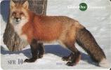 TARJETA DE SUIZA DE GLOBALONE DE UN ZORRO (FOX) - Tarjetas Telefónicas