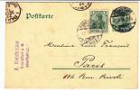 Entier Postal - Oblitéré Dont Frankfurt. 1909 - Oblitérés