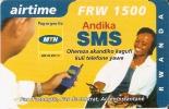 TARJETA DE RUANDA DE AIRTIME SMS DE 1500 FRW CADUCIDAD 10-12-2005 (RWANDA) - Rwanda