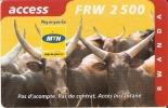 TARJETA DE RUANDA DE ACCESS DE 2500 FRW CADUCIDAD 31-10-2004 (RWANDA) TORO-BULL