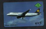 GERMAN AIR LINE - LUFTHANSA - B.T.PHONECARD - 1992 USED - Flugzeuge