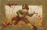 ### Chromo, Petit Chasseur, Son Chien Et Un Canard, Vierge - Chromos