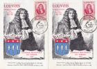 6582# LOT 5 CARTES POSTALES Obl JOURNEE DU TIMBRE NANCY 15 MARS 1947 / NANCY LOUVOIS - Marcophilie (Lettres)