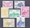 Peru C 115-21 *  (o)   No Wmk. 1953-60 Issue  Thom.De La Rue - Peru