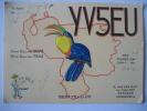 CARTE QSL CARD RADIO AMATEUR 1967 - CARACAS VENEZUELA -BEAUTIFUL PICTURE IN RELIEF OF A TOUCAN - YV5EU - G. VAN DER ELST - Radio Amateur