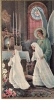 ### Image Pieuse, 2 Communiantes Et Un Ange, Vierge - Images Religieuses
